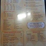 pizza menu page