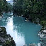 rock on blue water