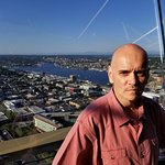 William E. Lewis Jr. of Fort Lauderdale, Florida, visiting the Space Needle in Seattle, Washingt