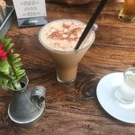 Cute little place, with yummy frappe coffee..  The pizza menu looked amazing..!