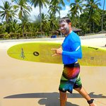 A cara de felicidade depois do surf :-)
