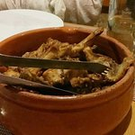 Maltese cooked rabbit in a pot