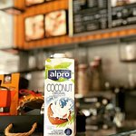 Enjoy Mikel's Coffee with Coconyt milk
