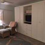 Murphy beds in each cabinet with doors;so plenty of space for living, when not sleeping