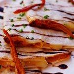 Quesadillas de queso con pavo.