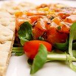 Nuestro delicioso Tartar de salmón.