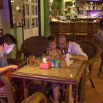 Relaxed customers at Two Dragons restaurant