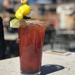 there are two caesars listed in their menu...this is the one with maple syrup & bbq sauce!