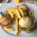 Chicken burger at Mondo