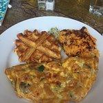Omelet--horrible. Sweet potato mush--ugh