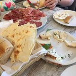 Cheese, meats and breads to start