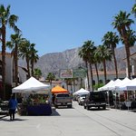 Mountains, palm tree, and a really nice Farmers Market!