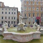 Maurova fontána na Piazza Navona