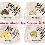 Japanese Mochi Ice Cream: Chocolate, Red Bean, Mango & Green Tea