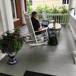More front porch rockers. A pleasant place to work on your laptop!