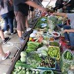 Typical scene at Maeklong Market