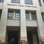 Outside Honolulu Police Department building