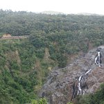 Barron Falls and train from Skyrail