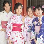 Happy Geisha girls