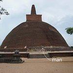 The stupa is huge