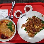 Penang's popular duck egg fried koay teaw and curry noddles