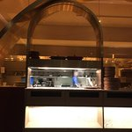 Open kitchen at Nizza restaurant