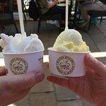 Lemon and Vanilla gelato from La Mela Verde