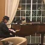 Beautiful music in the Library Lounge after dinner.