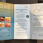 Breakfast menu, May 2018