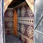 Eingang zum Zelt
