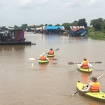 So fun have chance doing the kayaking through the floating village and mangrove in Cambodia