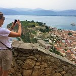 My wife walked up the 900 steps to the Palamidi Fortress in Nafplion