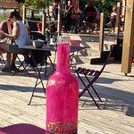 La cabane de Laurinette, la bottiglia di acqua