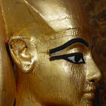 Isis protecting Tutankhamen's canopic shrine