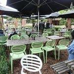 Outside seating, Picnic Cafe, Wellington Botanic Garden