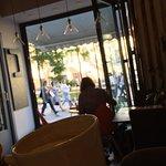 Приятный укроп) кофе и панорамное окно,что еще нужно в теплый денек в Петербурге.Прогулка на Вас