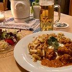 Rahmgulasch mit Spätzli während den bayrischen Wochen
