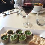 eating escargot for the first time. I thought I'd hate it but I really enjoyed it.