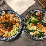 Bo Bun crevettes et Soupe aux légumes