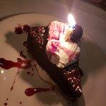 Surprise anniversary dessert!
