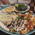 Delicious platters of well made, authentic Lebanese food. Lovely atmosphere, brilliant service a
