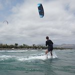 kitesurfing lessons with swiss kite student Daniel Mallorca