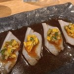 Yellowtail with mango salsa :)