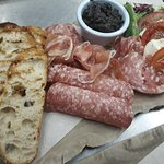 Cold Meat Platter with Tapenade, ciabatta and caprese salad