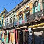 Colorful street scene