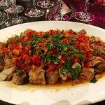 Costilla al vapor aliñado con salsa chili y pimientos 剁椒排骨