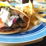 Gyro sandwich with fires
