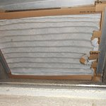 Aircon filter that they said had been changed prior to arrival unit 9102