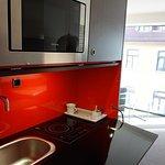 Useful, comfortable kitchenette