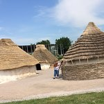 Smaal huts near the Stonehenge. How the villagers lived.